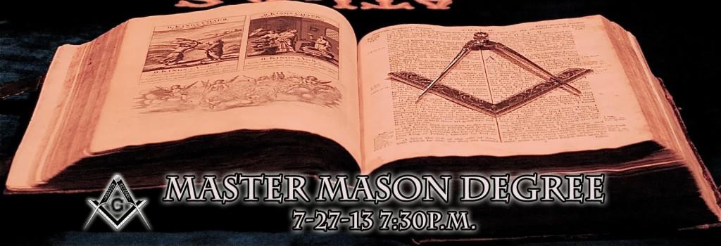 Master Mason Degree dateandtime
