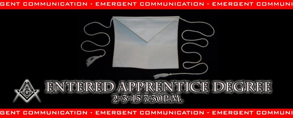 Entered Apprentice Degree Emergent
