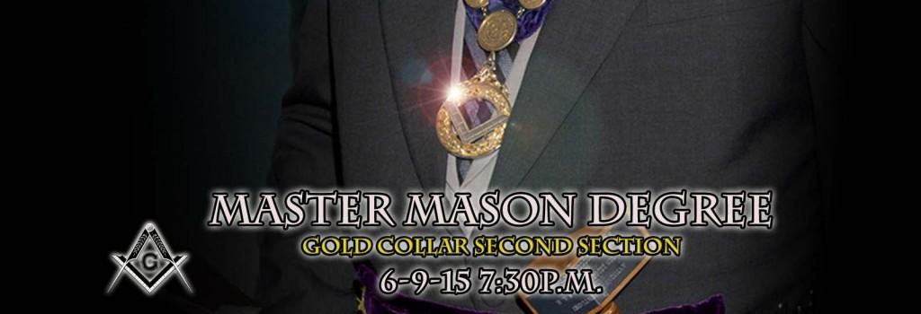 Master Mason Degree 6-9-15