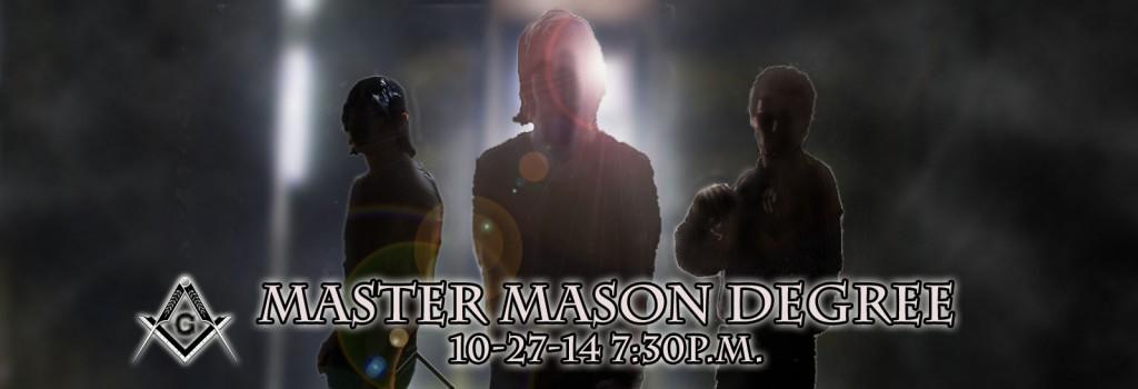 Master Mason Degree fall2014