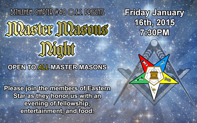 Master Masons Night2015