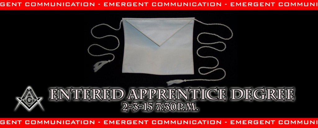 Entered Apprentice Degree Emergent