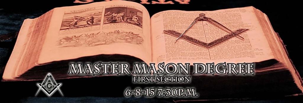 Master Mason Degree 6-8-15
